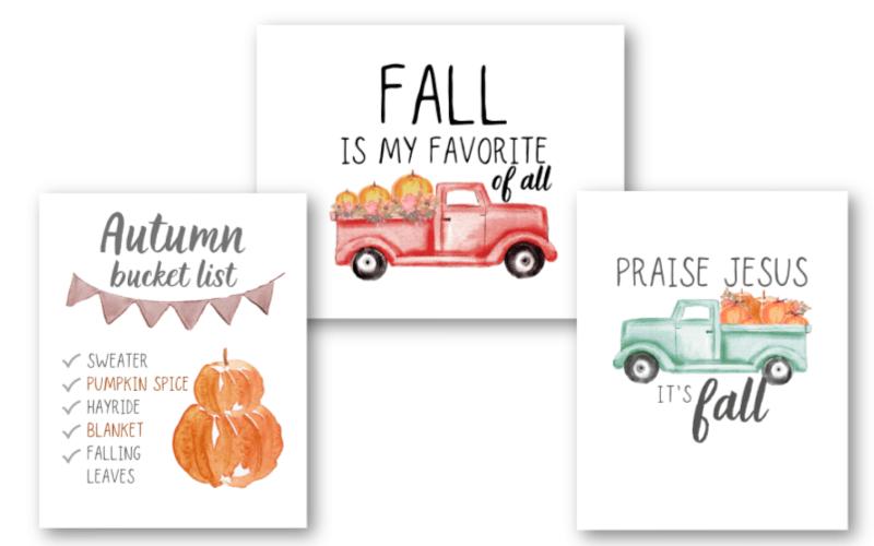 free printable fall signs set of 3