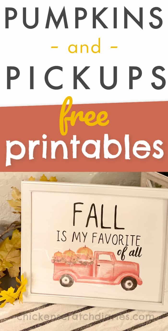 free fall printable decor