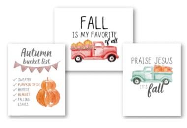 printable fall decor signs