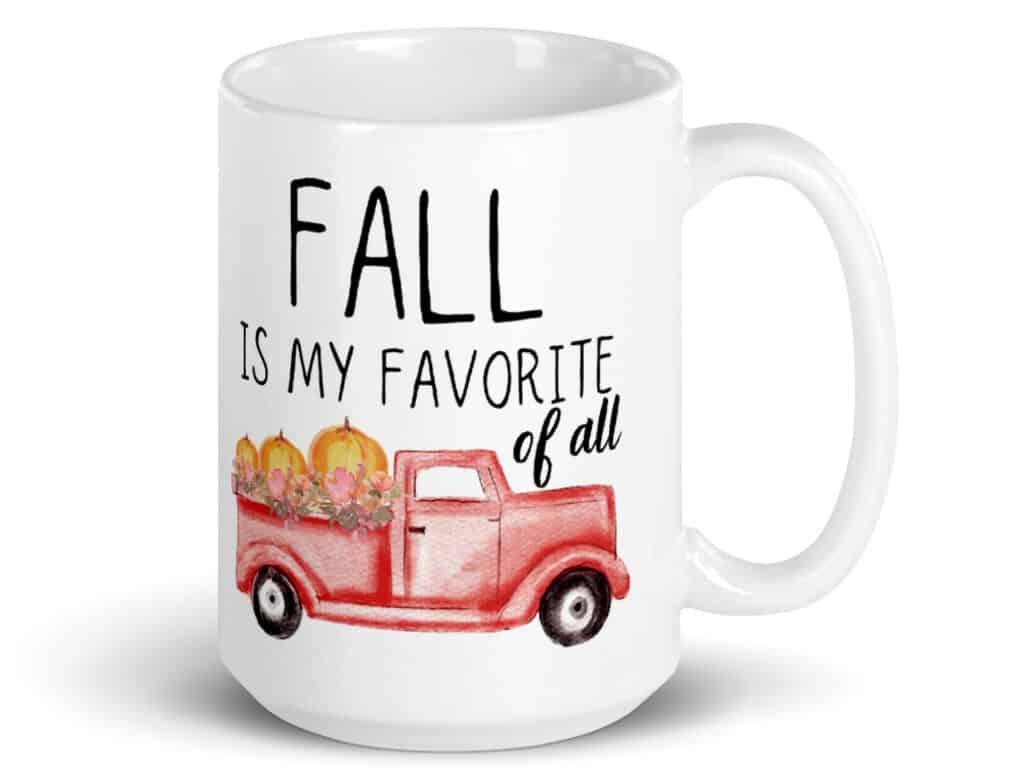 Fall is my favorite-coffee mug image