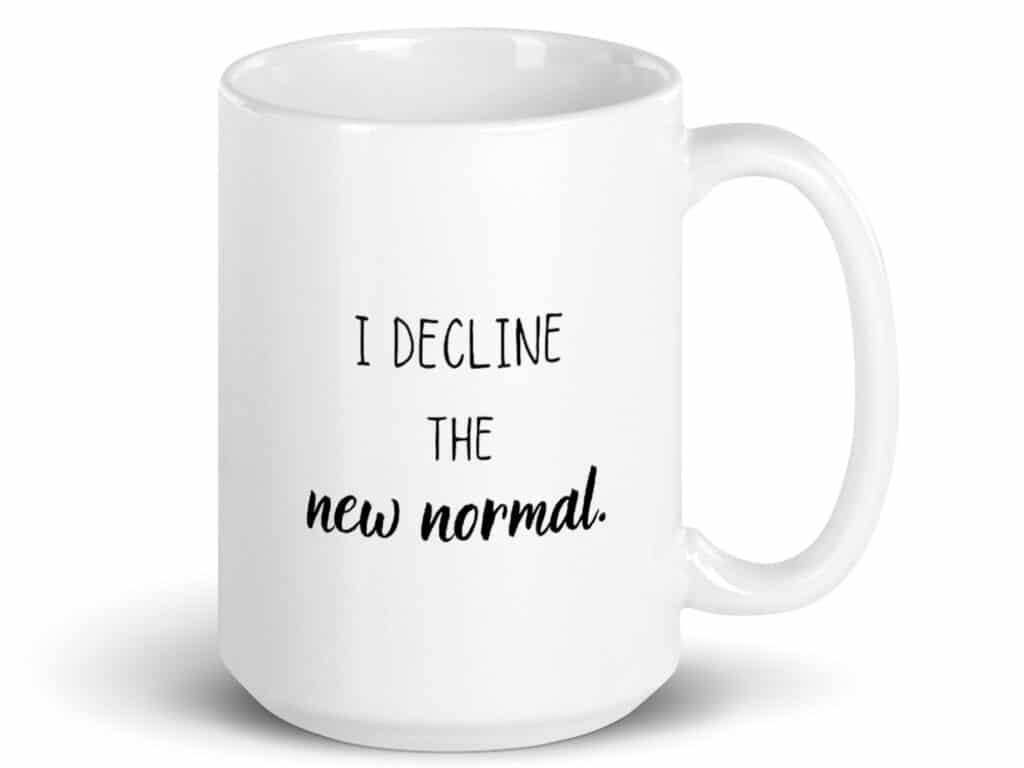 new normal coffee mug product image