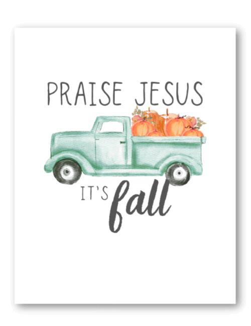 it's fall free printable