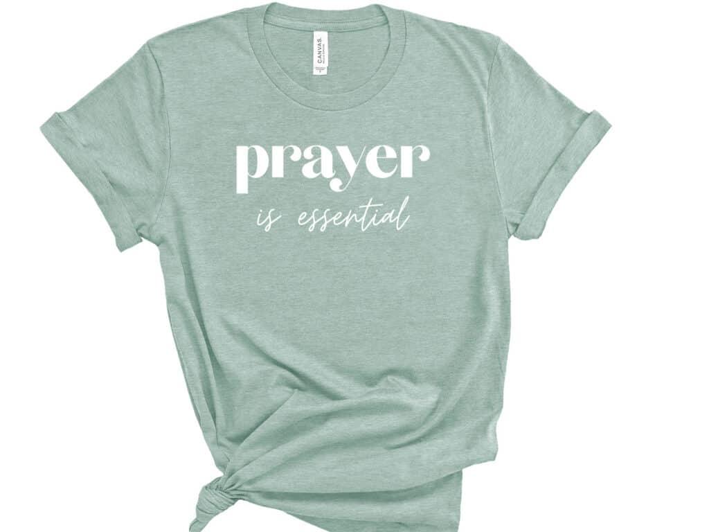 Prayer is essential-centered image