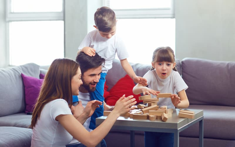 replacing screen time with family game time