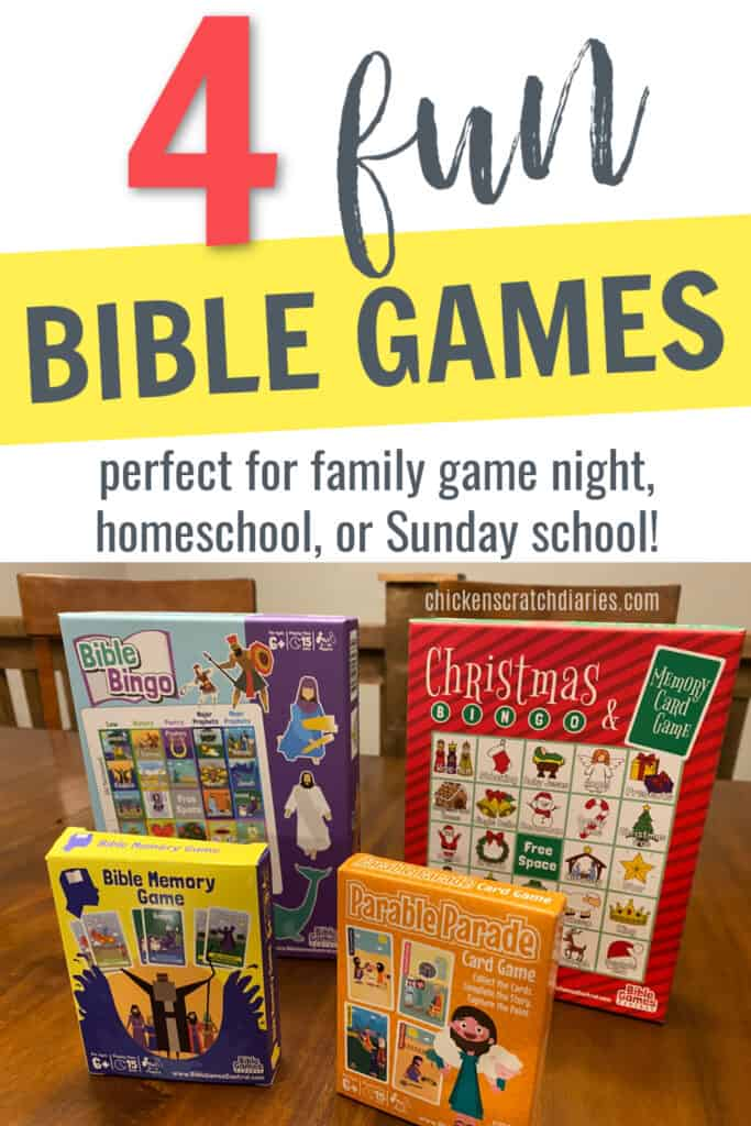 fun Bible games to teach the Bible through play