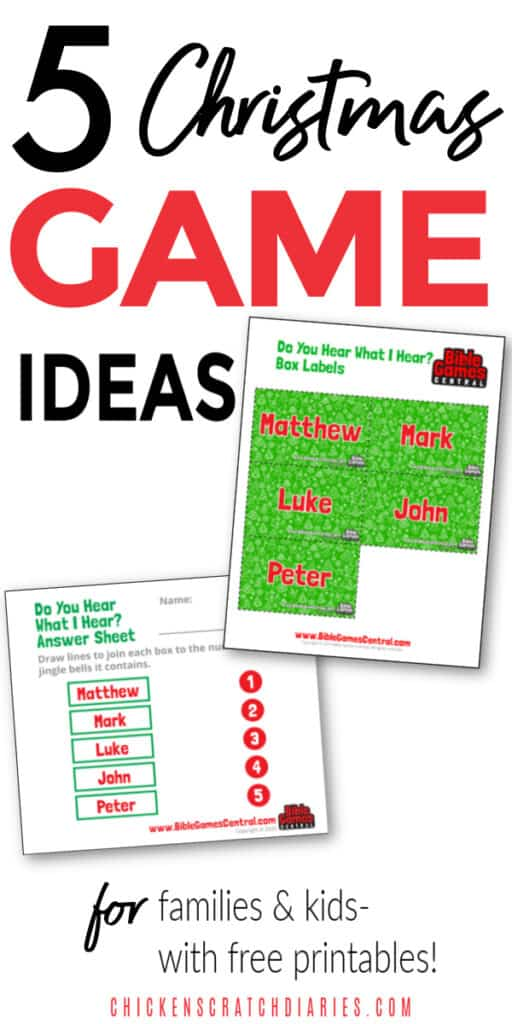 Christian Christmas game ideas