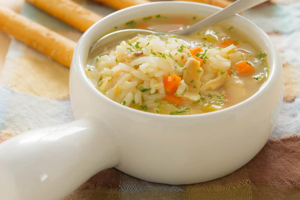 nourishing turkey and rice soup