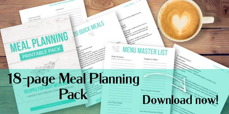 digital download-meal planning