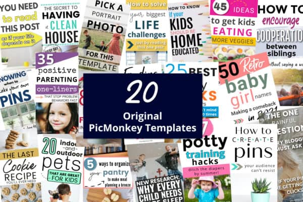 PicMonkey Template images