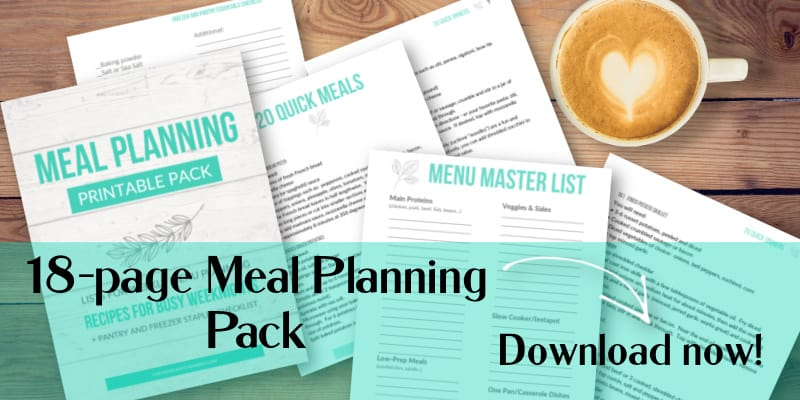 printables and checklists for meal planning