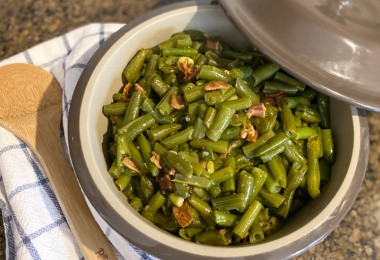 finished frozen green beans in instant pot