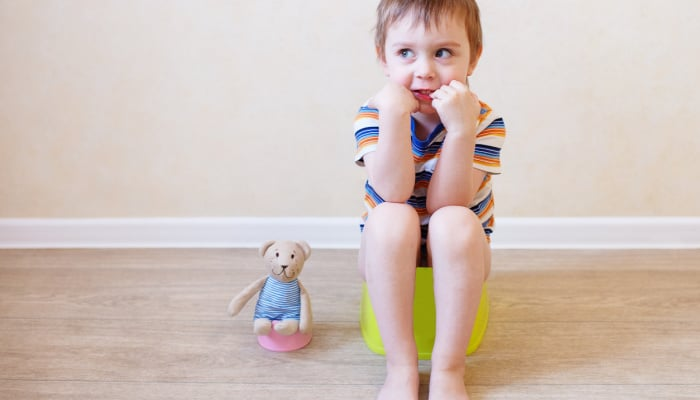 potty training strong willed boy-success
