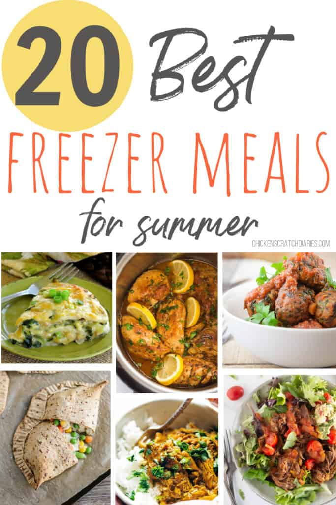 Easy freezer meals for summer that take the heat OUT of the kitchen!