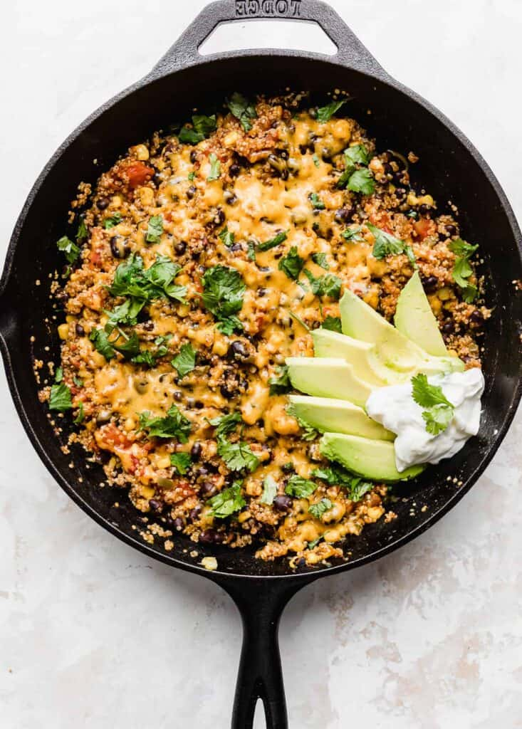 One pan mexican quinoa freezer meal