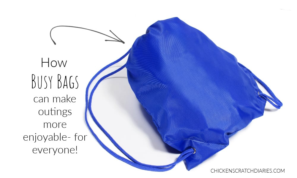 what to put in busy bags for outings with kids