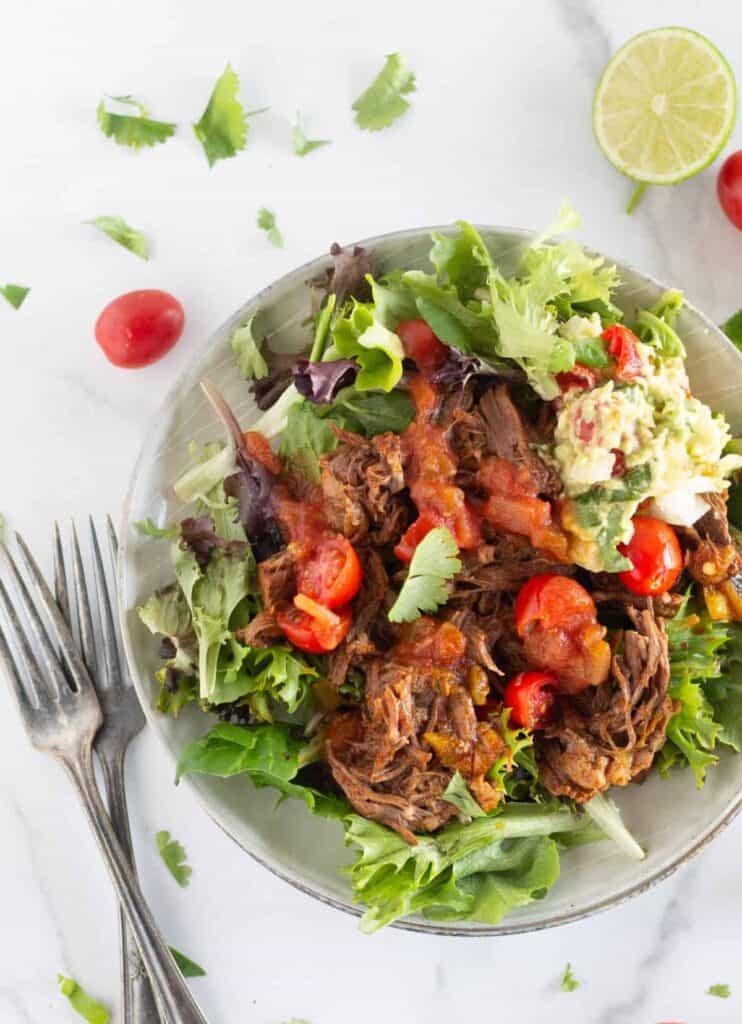 keto shredded beef - easy freezer meal for summer