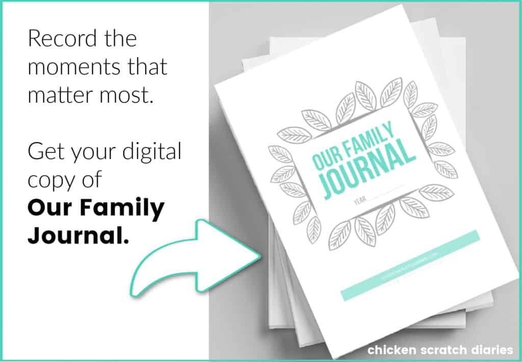 family journal to record family moments