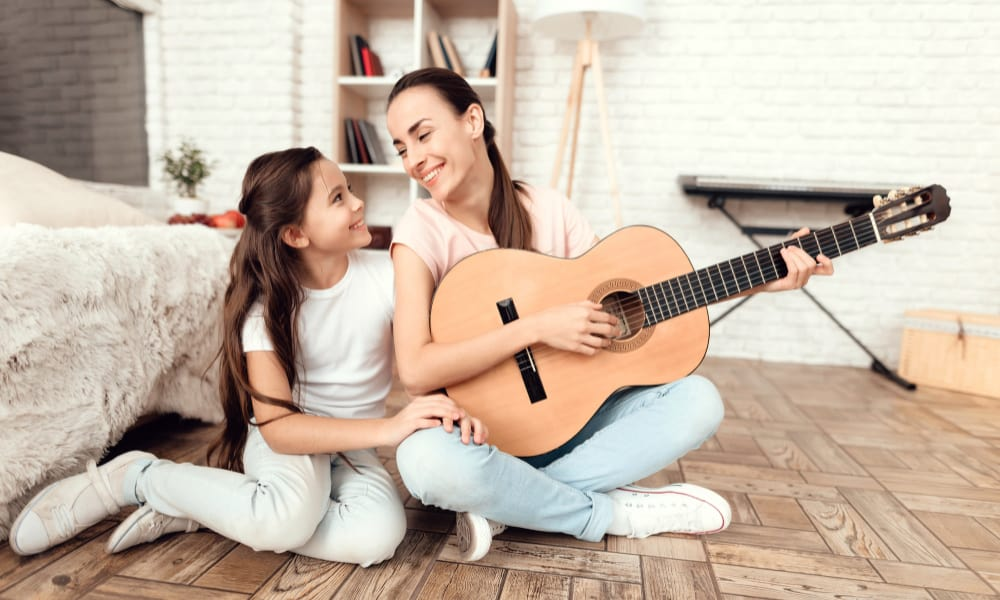 playing guitar - bored stay at home mom ideas