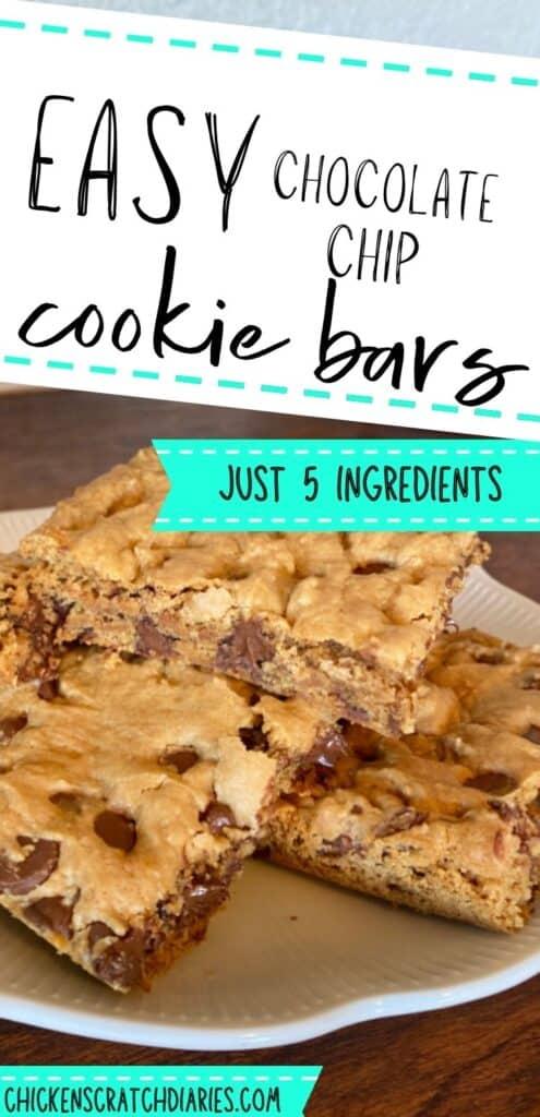 Easy 5-ingredient chocolate chip cookie bars