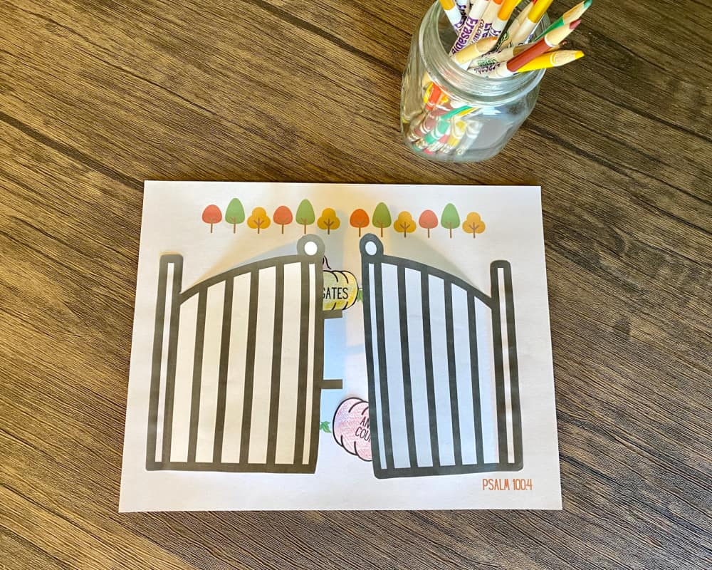 Enter his gates-Christian Thanksgiving activity printable