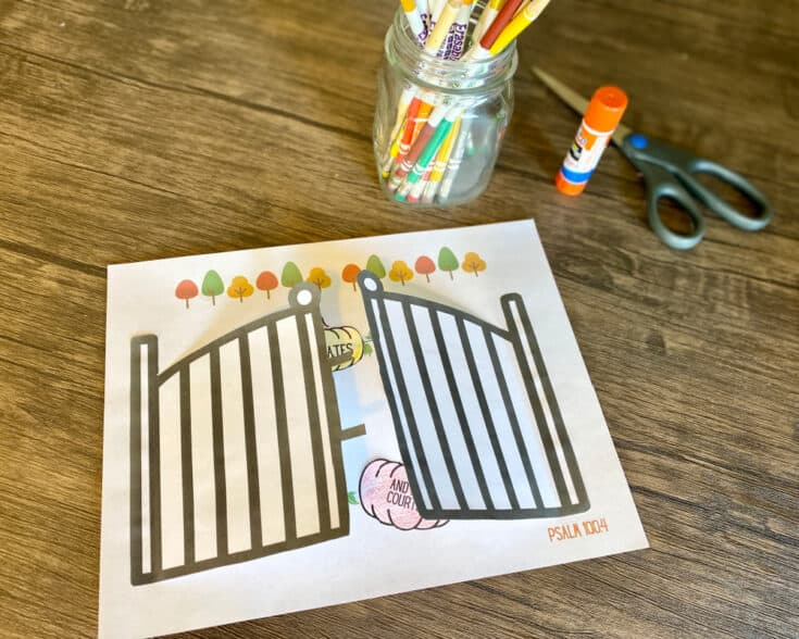 Printable Thanksgiving craft for Sunday School
