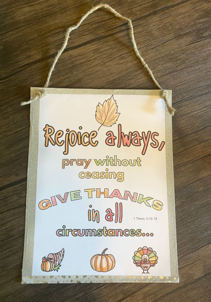 Thanksgiving Sunday School craft-give thanks